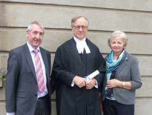 Geard J Wade, Justice Michael Peart and Valerie Peart
